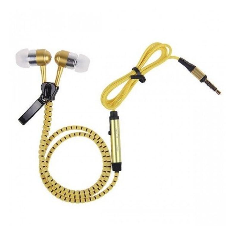 Ακουστικά με Μικρόφωνο Χρώματος Κίτρινο Zipper