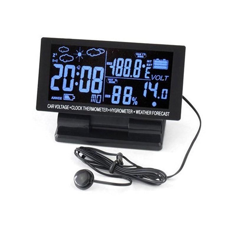 Ρολόι Αυτοκινήτου με Οθόνη LCD και Ψηφιακό Θερμόμετρο και Υγρόμετρο