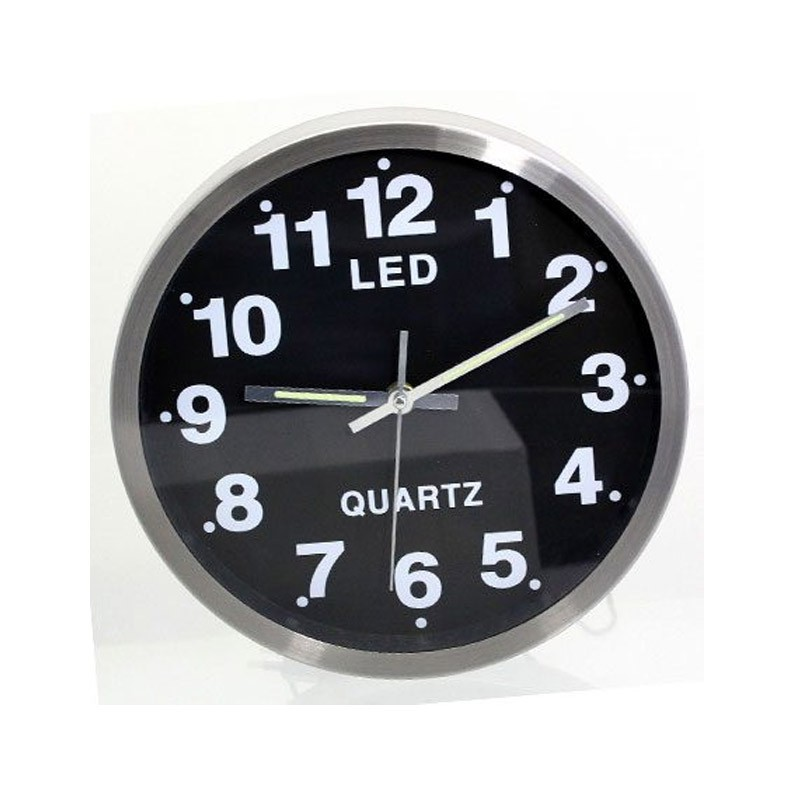 29.9 - Ρολόι Τοίχου με πολύχρωμο φωτισμό LED