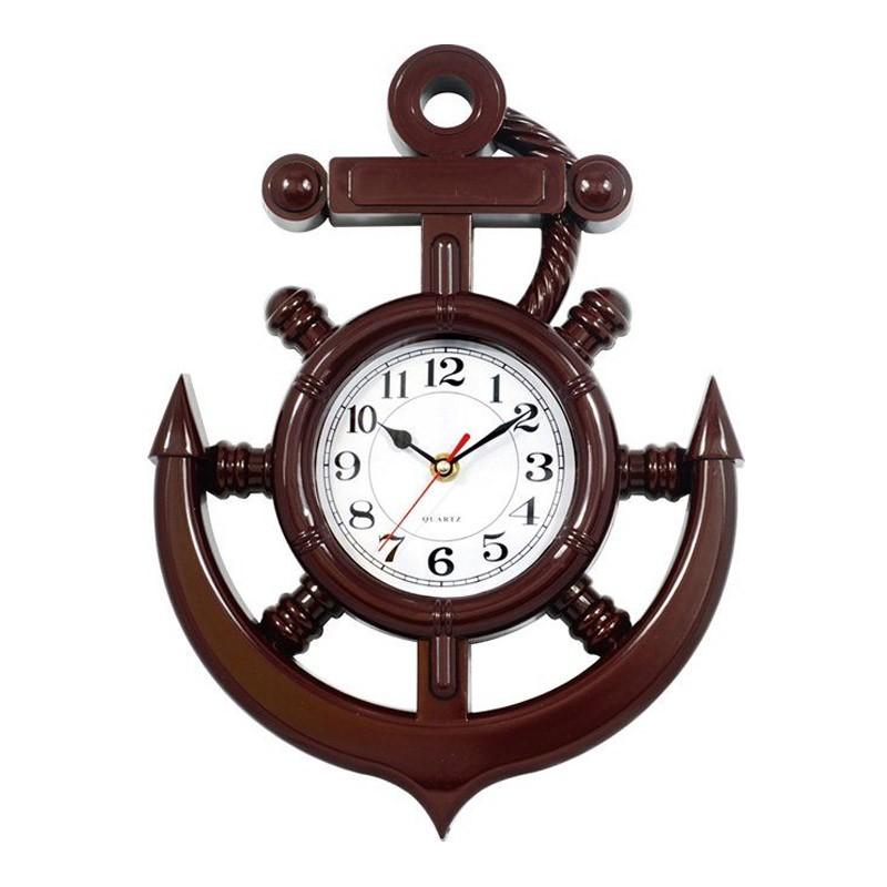 Ρολόι Τοίχου Quartz σε Σχήμα Ναυτικής Άγκυρας