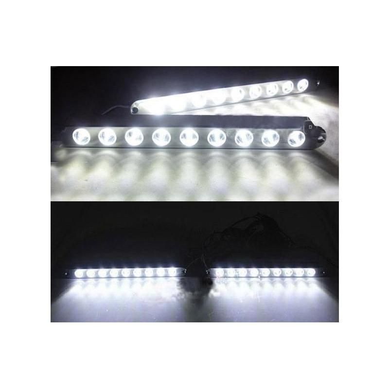 Σετ Φώτα Ημέρας Αυτοκινήτου LED με Φλας – 2 Τεμάχια
