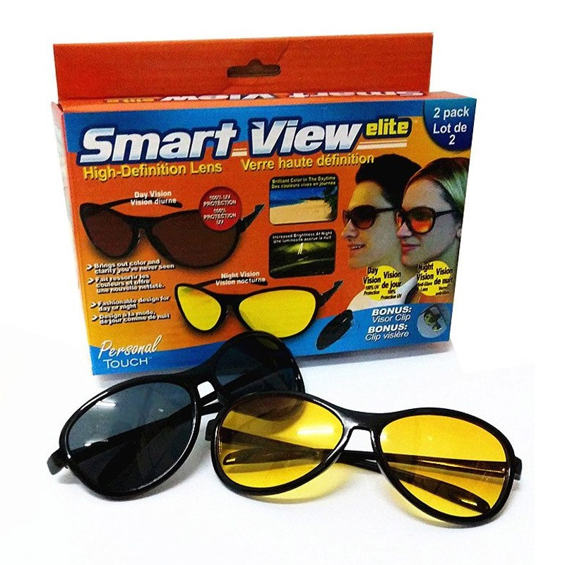 Σετ Γυαλιά Ηλίου και Γυαλιά Νυχτερινής Οράσεως HD Smart View Elite