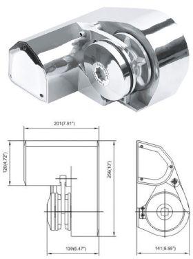 903.06 - Εργάτης Inox Άγκυρας 900W Για Αλυσίδα 6mm