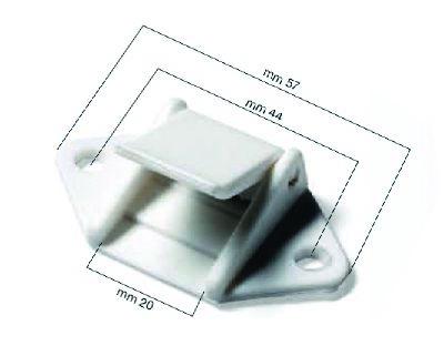 11.64 - Αγκράφα Πλαστική Λευκή 20mm