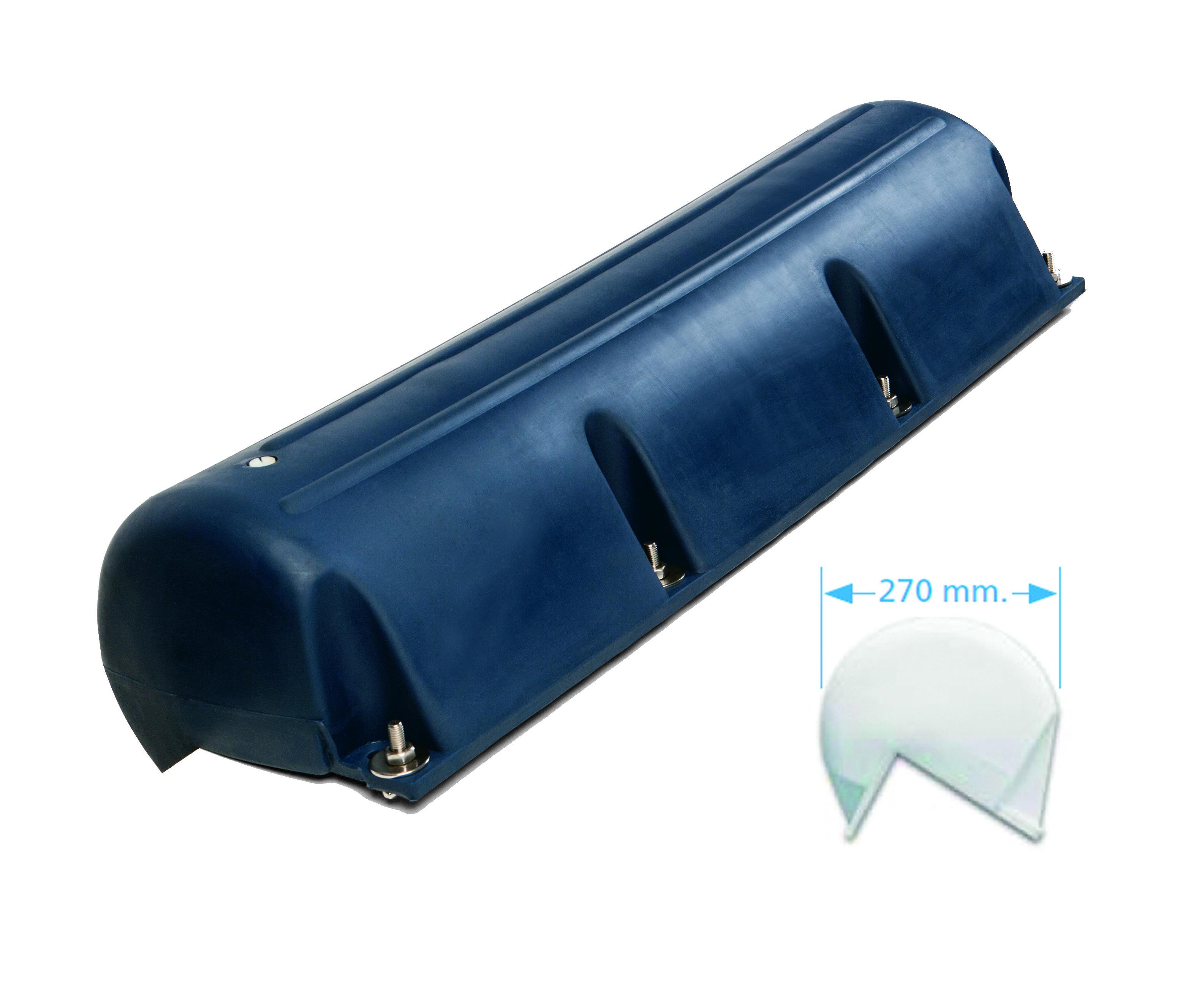 77.77 - Μπαλόνι Πρύμνης Μπλε Ορθή Γωνία 88.5x27cm