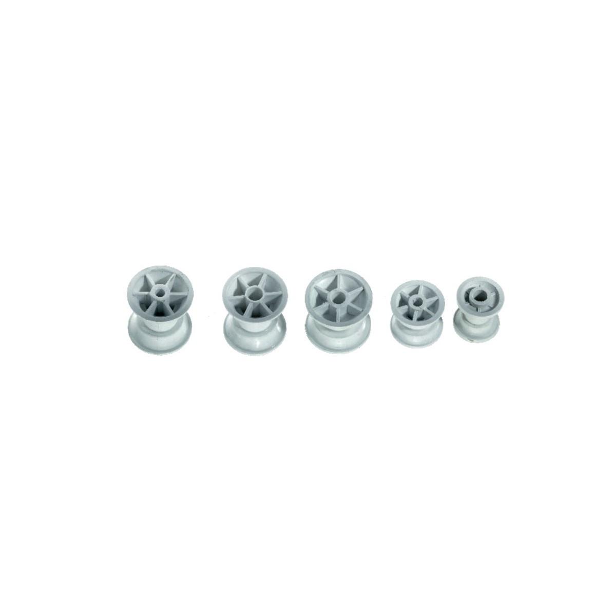 12.99 - Ροδάκι Πλαστικό Μήκους 40mm
