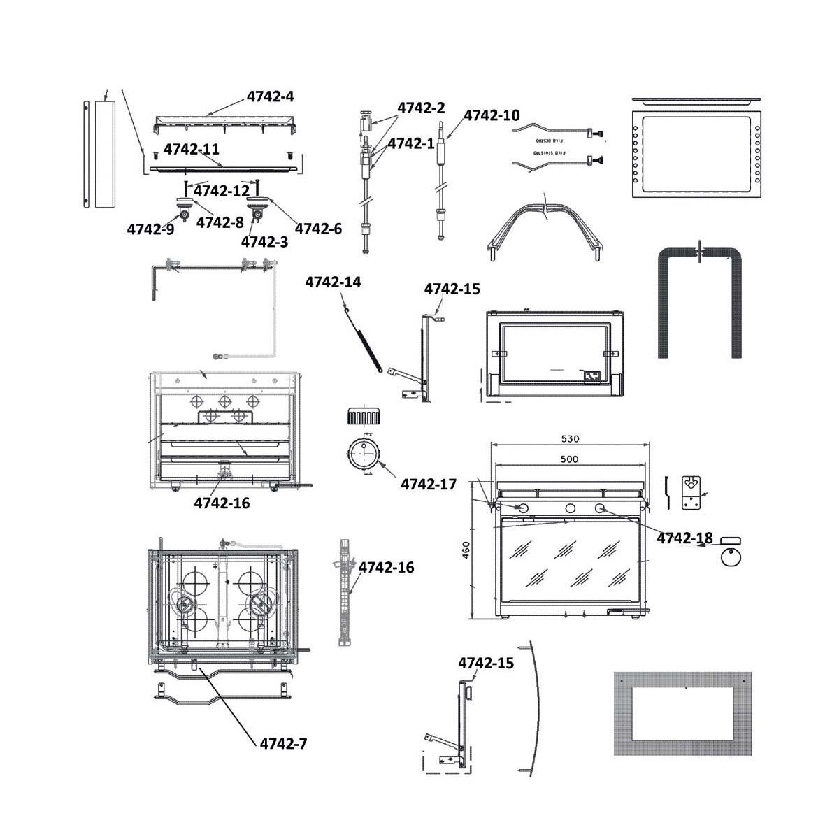 29.96 - Θερμοηλεκτρικό Στοιχείο Για Τον Φούρνο 900 mm - Ανταλλακτικό Κουζίνας