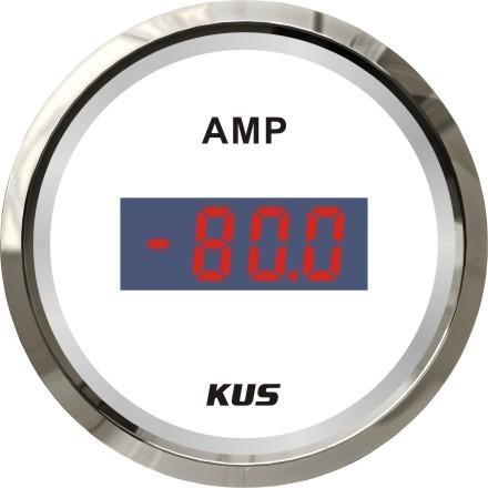 83.1 - Ψηφιακό Αμπερόμετρο 80A Με Αισθητήρα Χρώμα Inox Λευκό