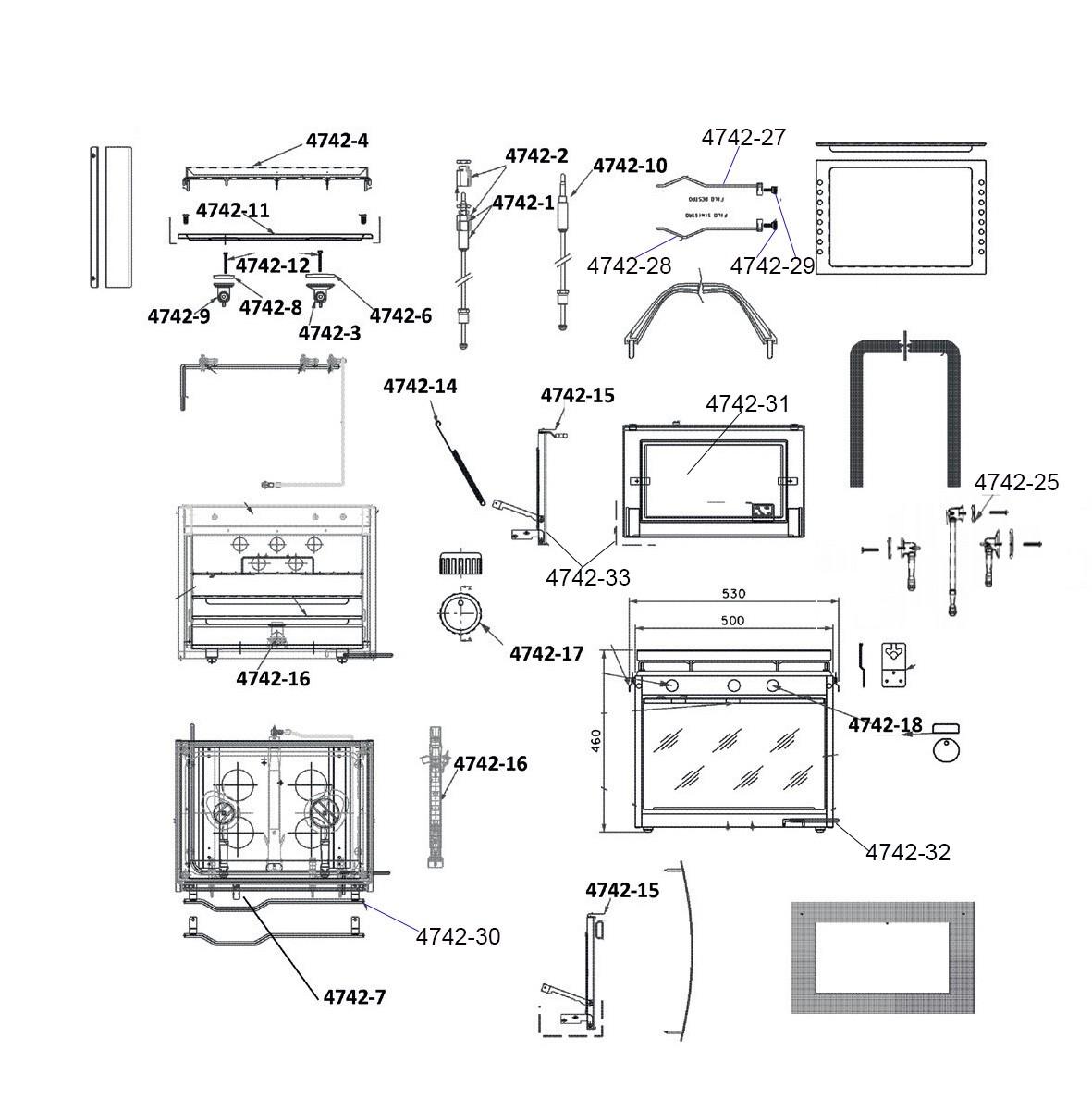 36.63 - Θερμοηλεκτρική Εστία 450mm - Ανταλλακτικό Κουζίνας