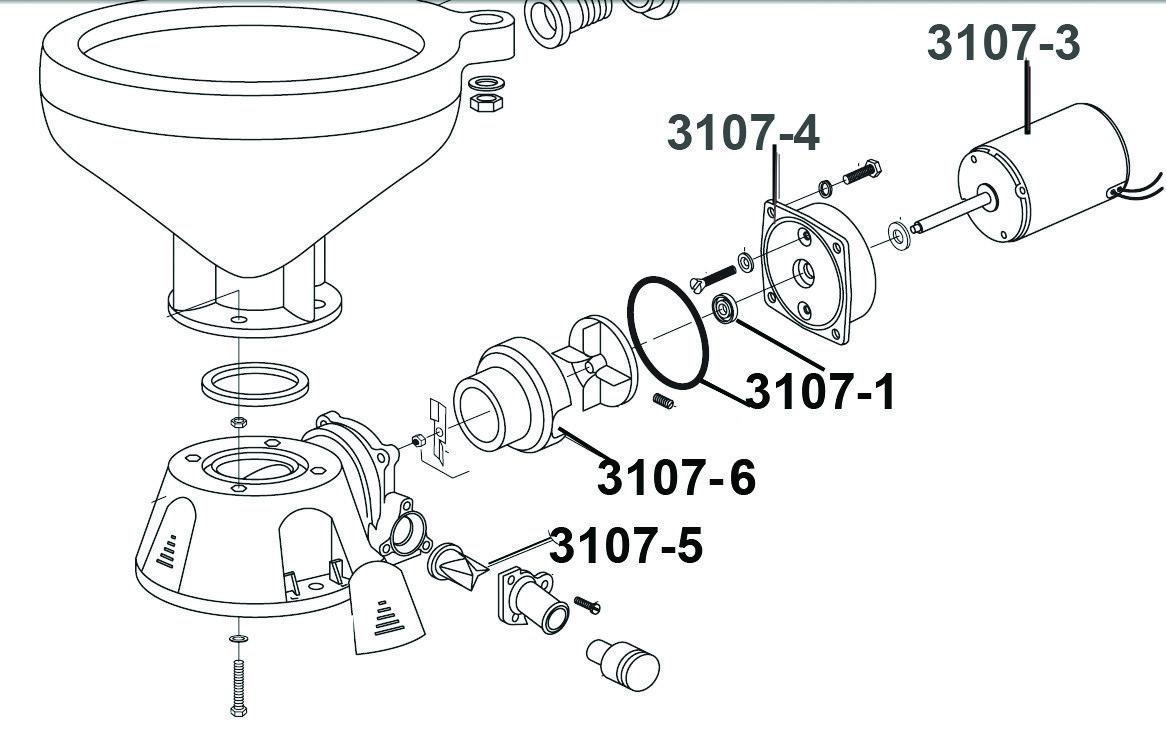 265.05 - Μοτέρ 12V Για Τουαλέτα Με Κωδικό 3107