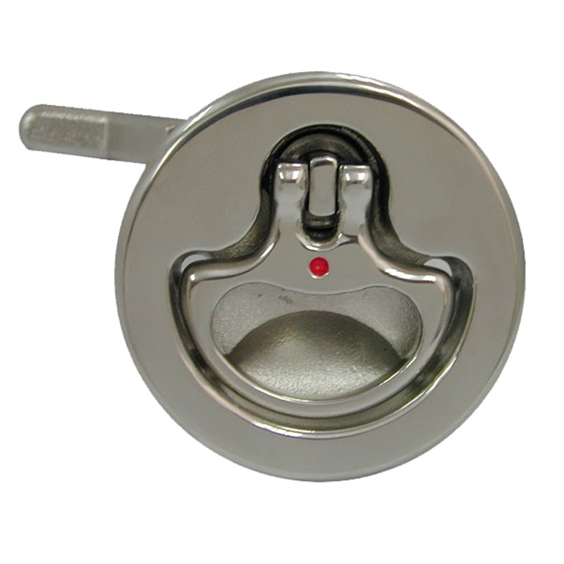 48.65 - Κλειδαριά Inox Χωνευτή Βελτιωμένη Κυκλική Χωρίς Κλειδί 51mm