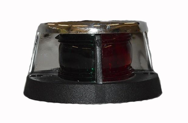 17.16 - Φανός Δίχρωμος Ναυσιπλοΐας Πράσινο-Κόκκινο 12V, 5W L10xW8cm Με Χρωμιωμένο Περίβλημα