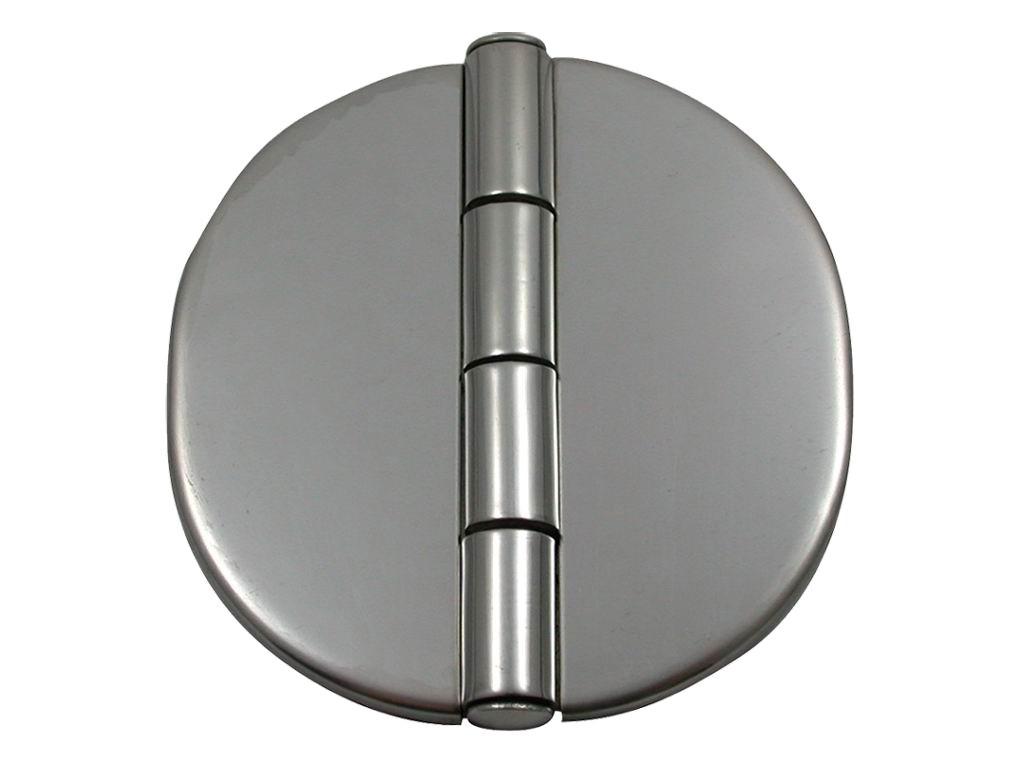 21.24 - Μεντεσές Στρογγυλός Inox Με Καπάκι Διαμέτρου 64,77 mm