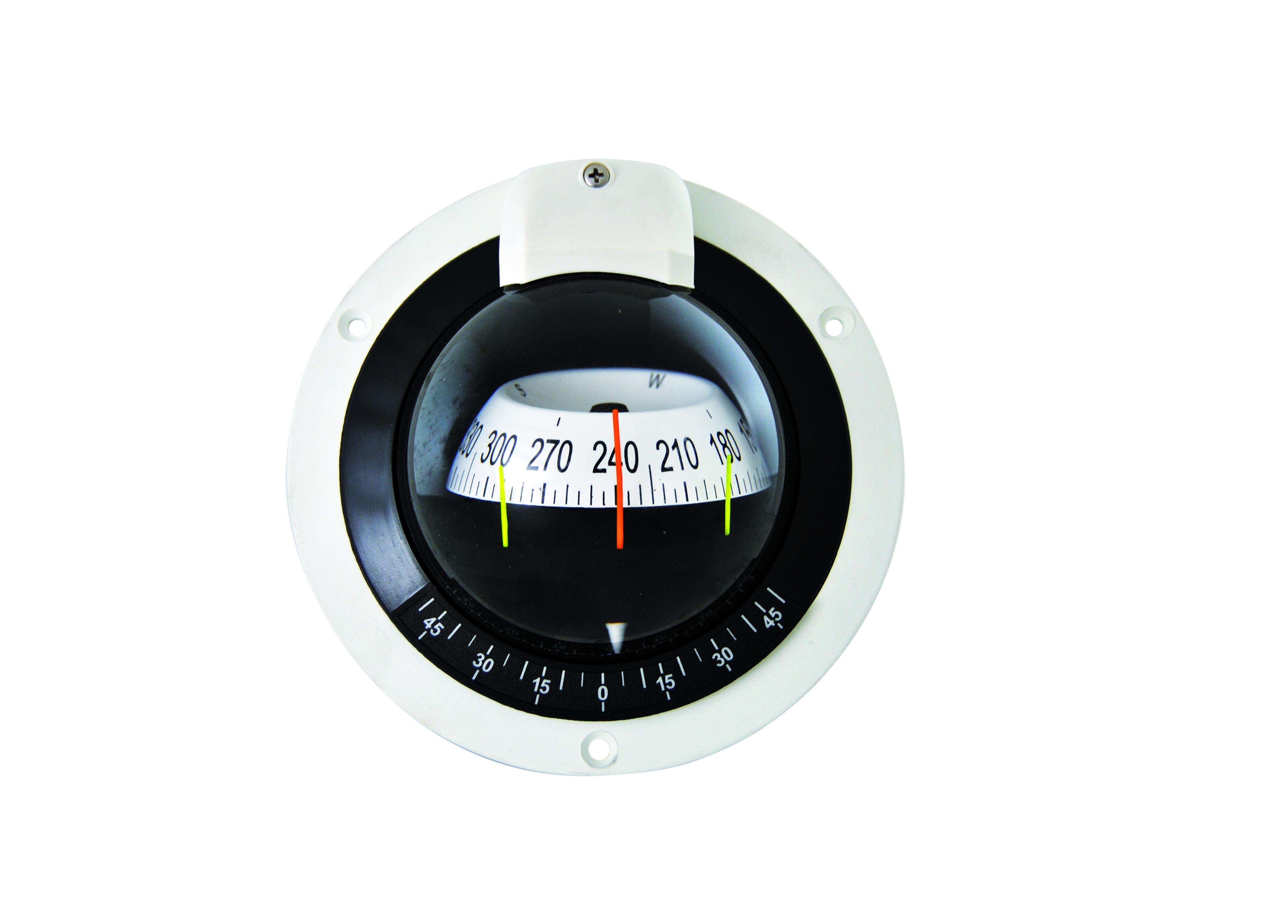 151.69 - Πυξίδα Χωνευτή Οριζόντιας Τοποθέτησης Χρώμα Λευκό