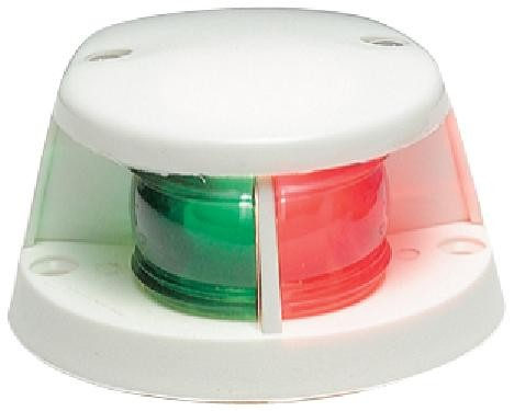 17.58 - Φανός Δίχρωμος Ναυσιπλοΐας Πράσινο-Κόκκινο 12V, 5W L10xW8cm Με Λευκό Περίβλημα