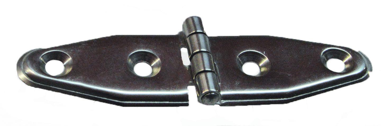20 - Μεντεσές Πρεσσαριστός Inox L106 W30 - Σετ Των 5 Τεμαχίων