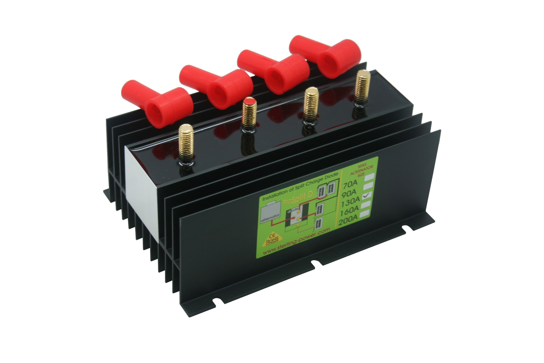 146.95 - Διαχωριστής Φόρτισης - Ισοσταθμιστής Μπαταριών Pro Split 130Amp Με 3 Εξόδους
