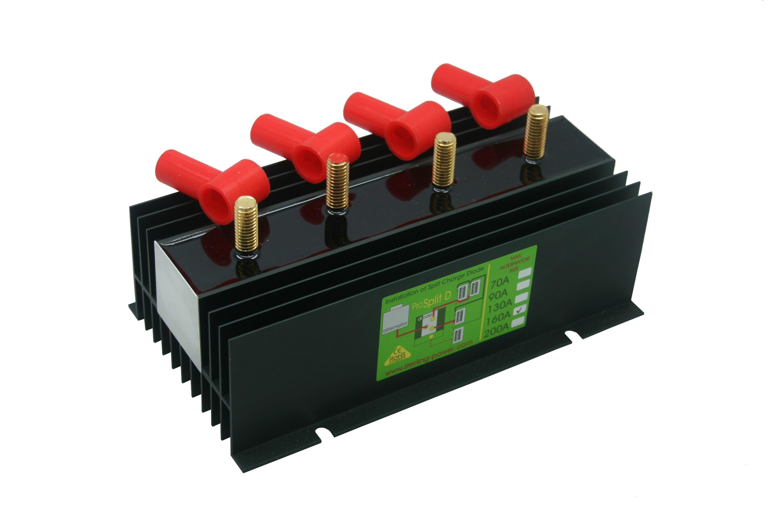 219.33 - Διαχωριστής Φόρτισης - Ισοσταθμιστής Μπαταριών Pro Split 160Amp Με 3 Εξόδους