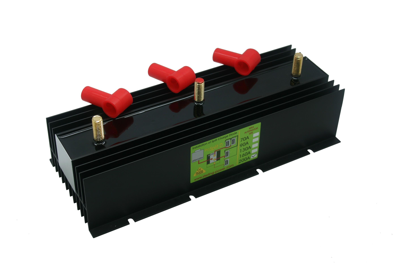 228.38 - Διαχωριστής Φόρτισης - Ισοσταθμιστής Μπαταριών Pro Split 200Amp Με 2 Εξόδους