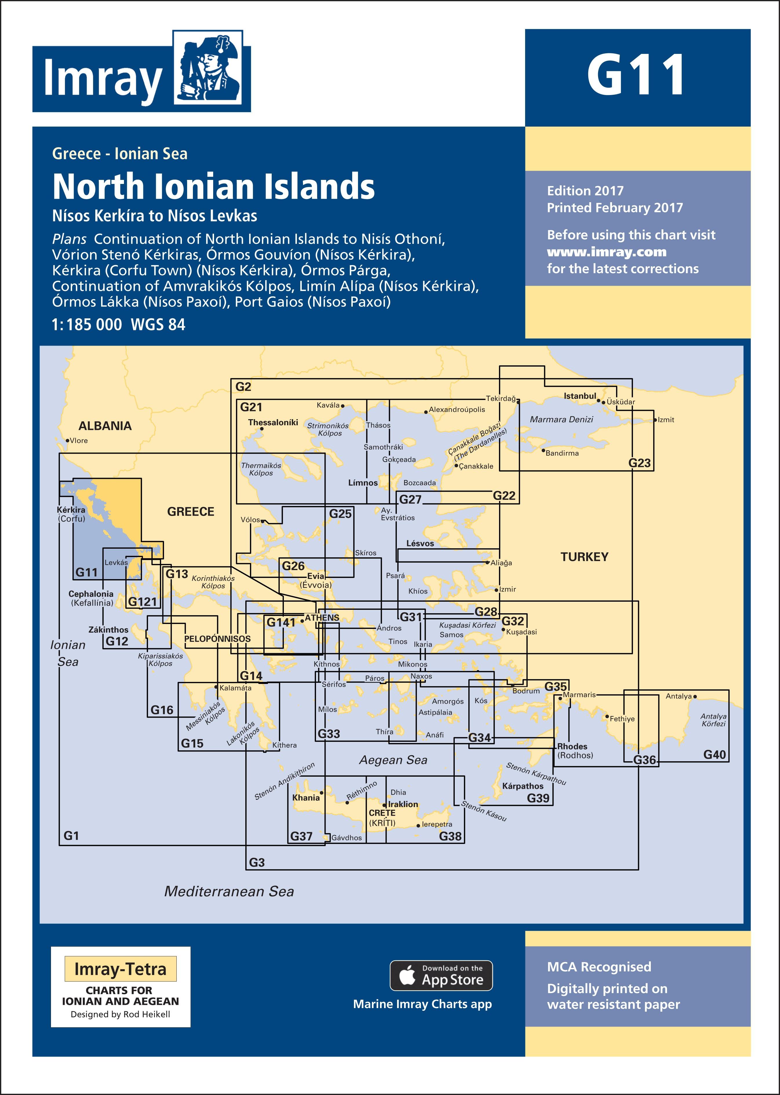 33.53 - Ναυτικός Χάρτης IMRAY ICG11-1 Βόρεια Επτάνησα