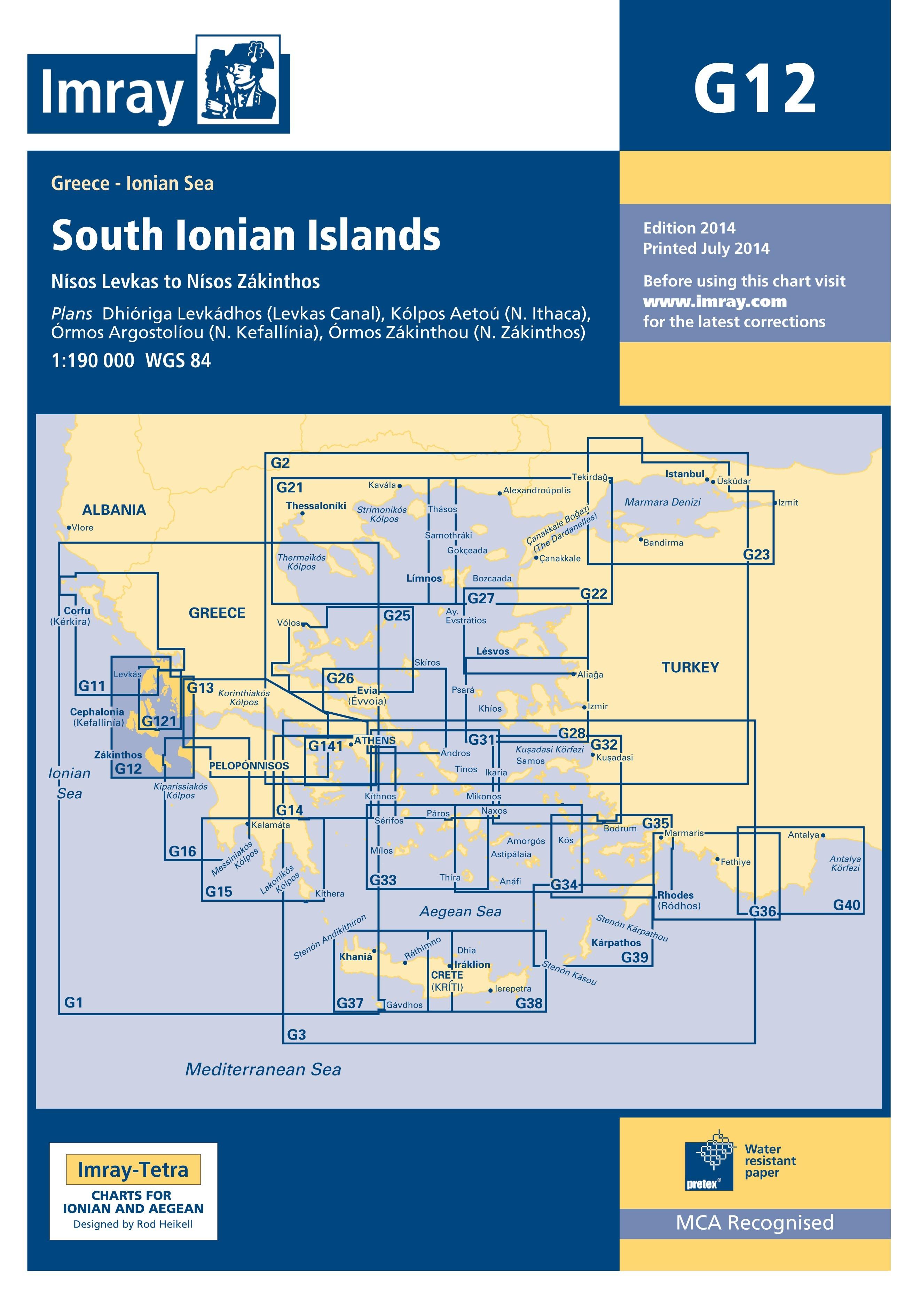 33.53 - Ναυτικός Χάρτης IMRAY ICG12-1 Νησιά Νοτίου Ιονίου