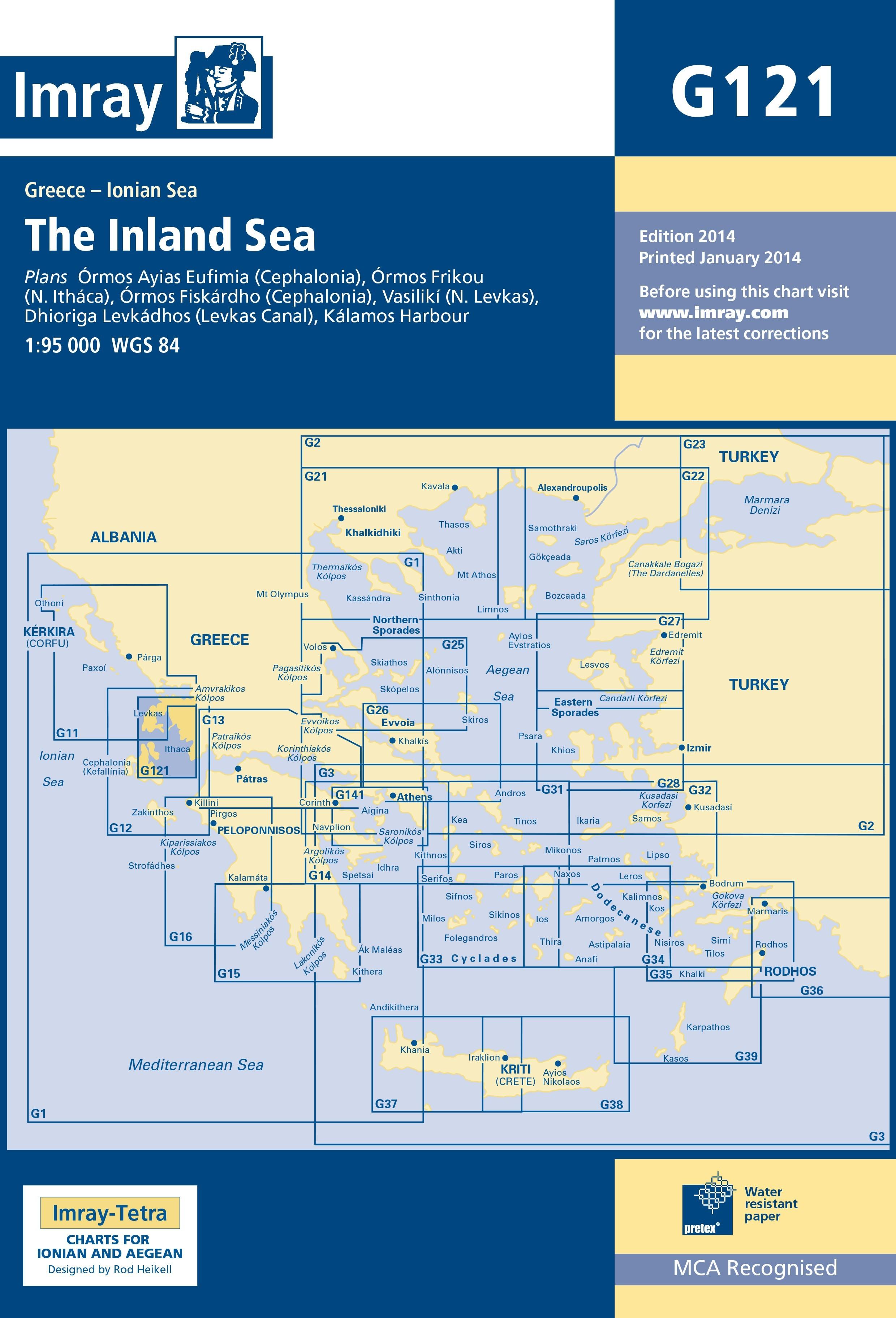 33.53 - Ναυτικός Χάρτης IMRAY ICG121-1 Εσωτερικό Αρχιπέλαγος Ιονίου