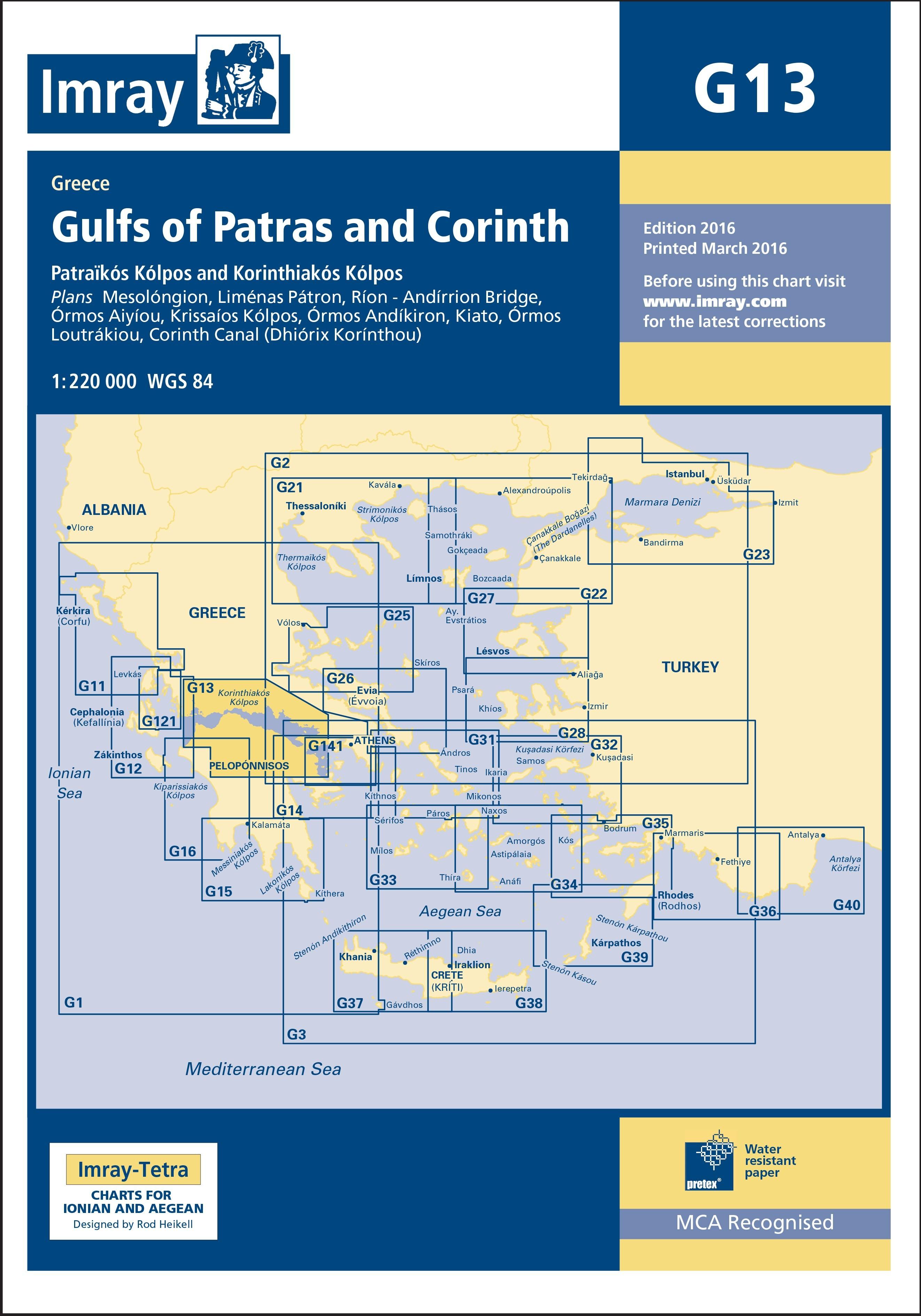 33.53 - Ναυτικός Χάρτης IMRAY ICG13-1 Πατραϊκός & Κορινθιακός Κόλπος
