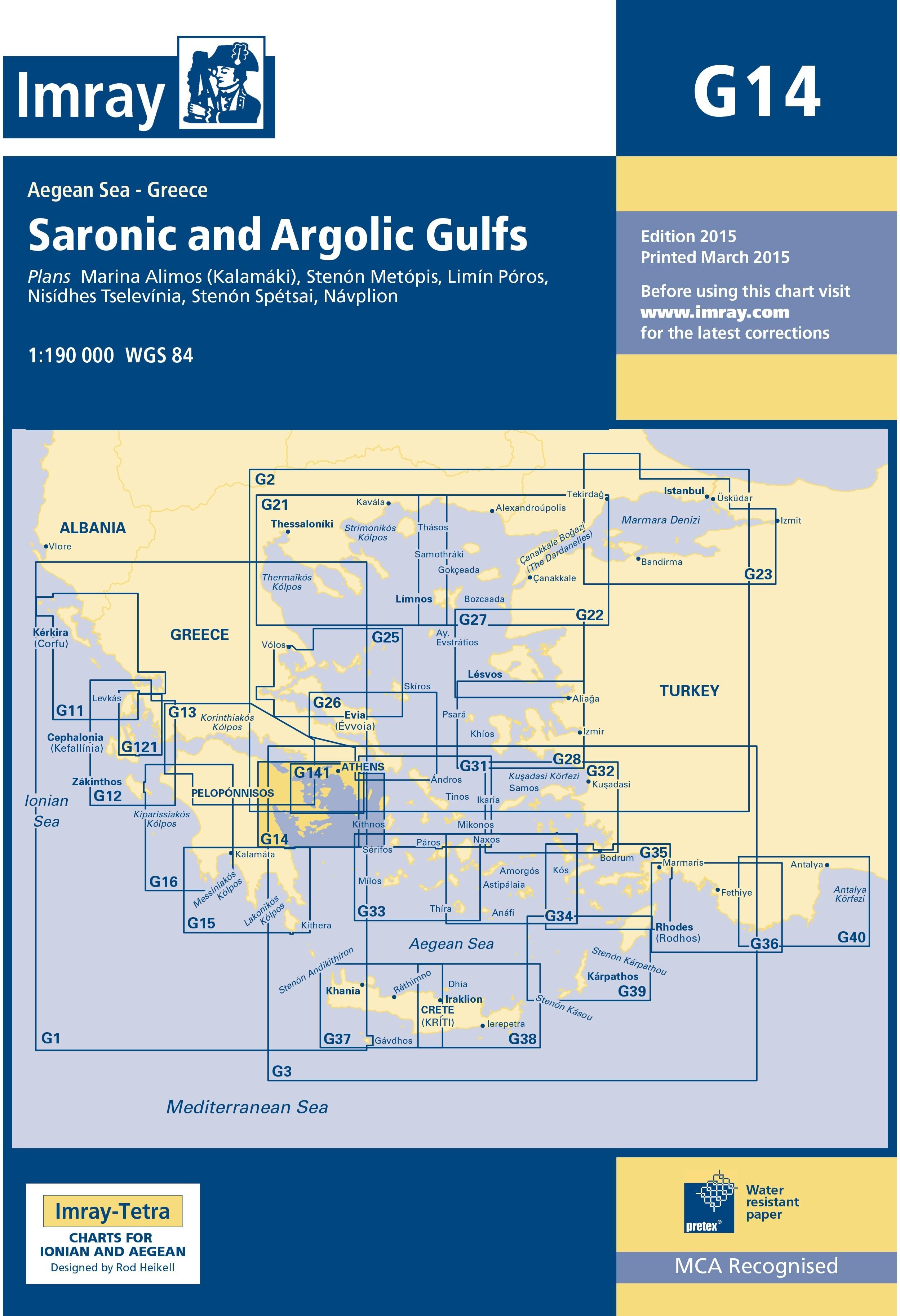33.53 - Ναυτικός Χάρτης IMRAY ICG14-1 Αργοσαρωνικός & Αργολικός Κόλπος