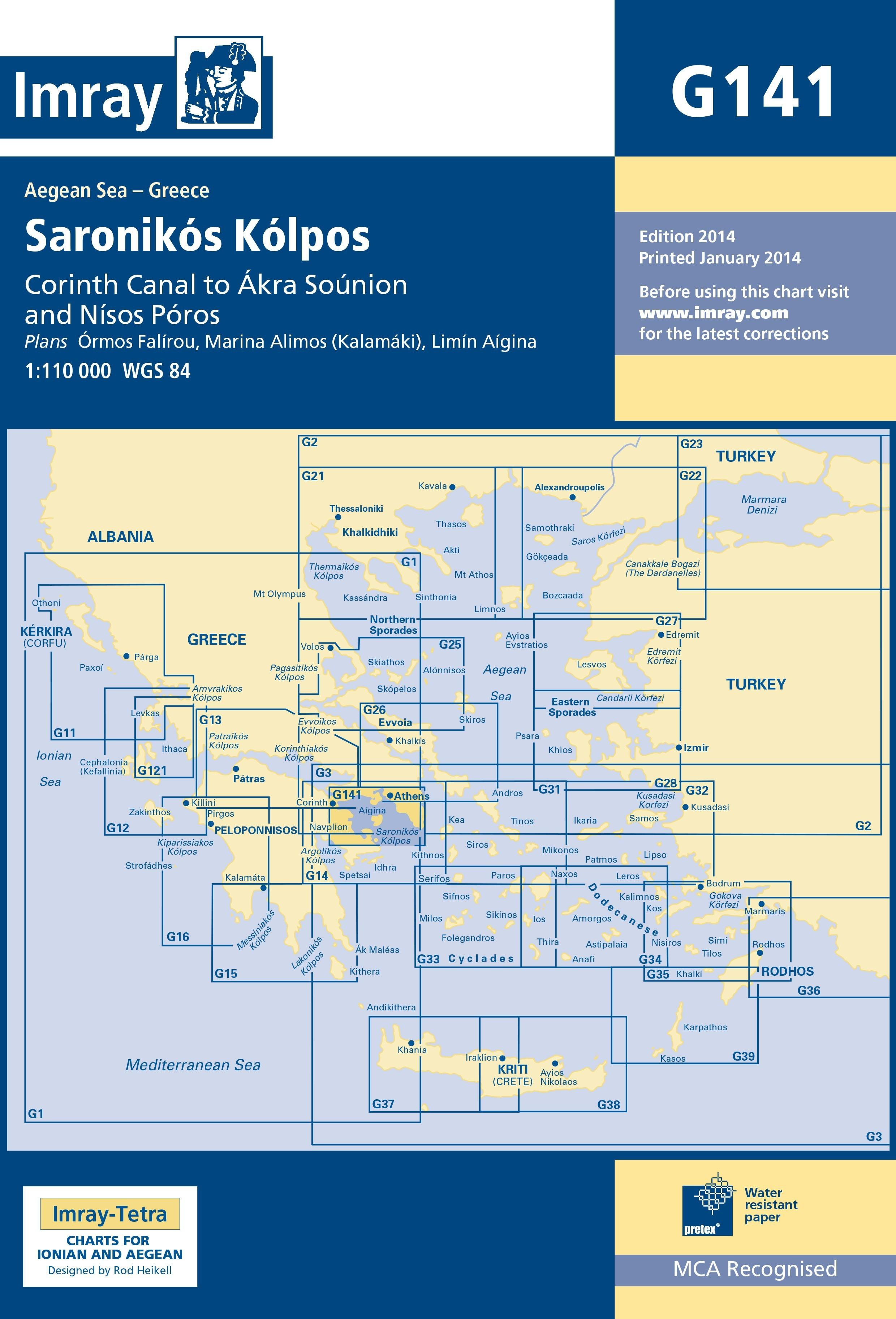 33.53 - Ναυτικός Χάρτης IMRAY ICG141-1 Σαρωνικός Κόλπος