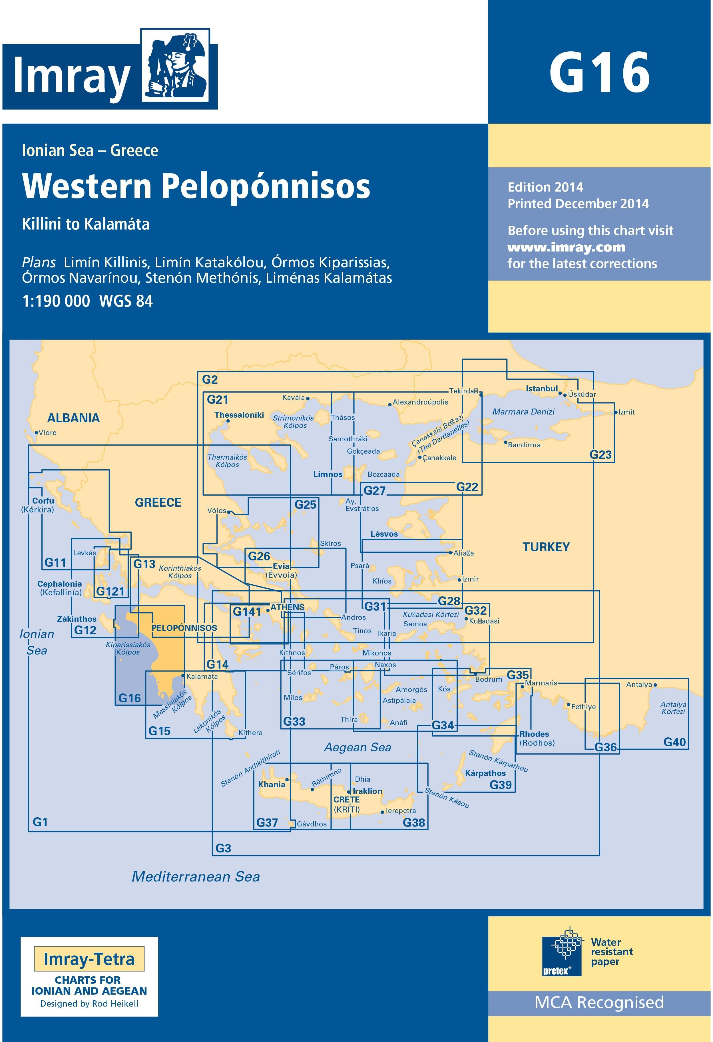 33.53 - Ναυτικός Χάρτης IMRAY ICG16-1 Δυτική Πελοπόννησος