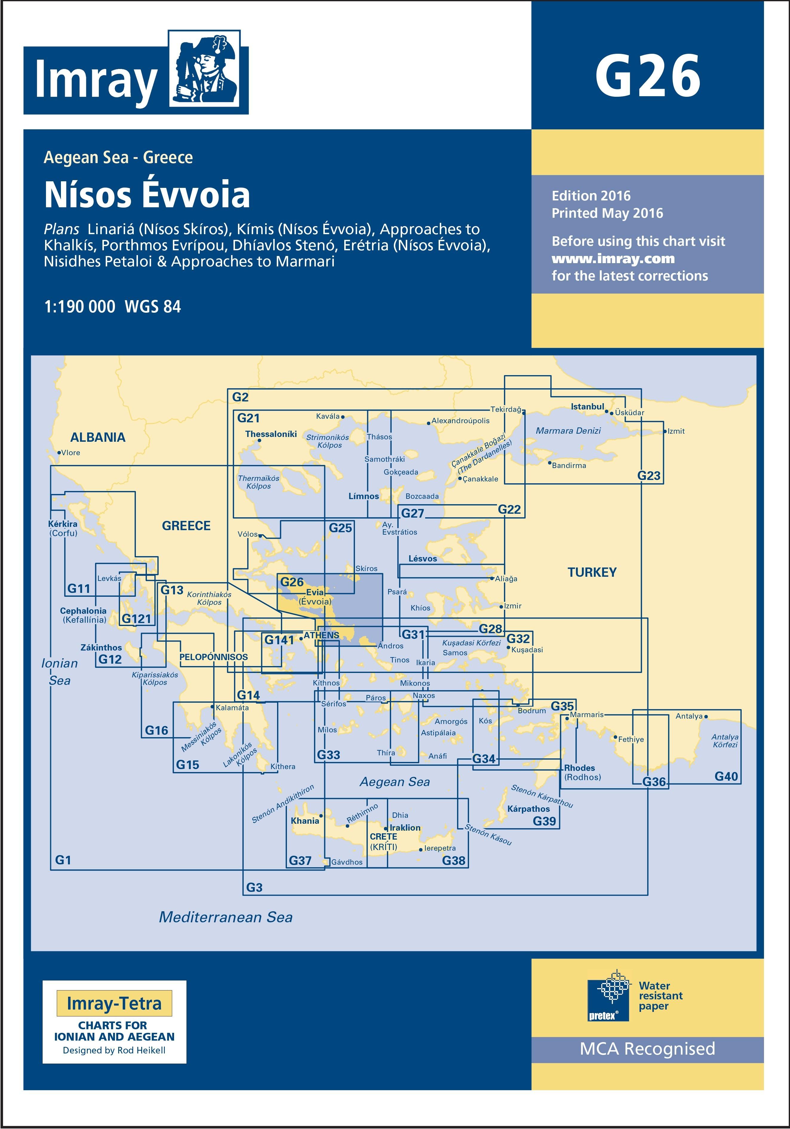 33.53 - Ναυτικός Χάρτης IMRAY ICG26 Νήσος Εύβοια