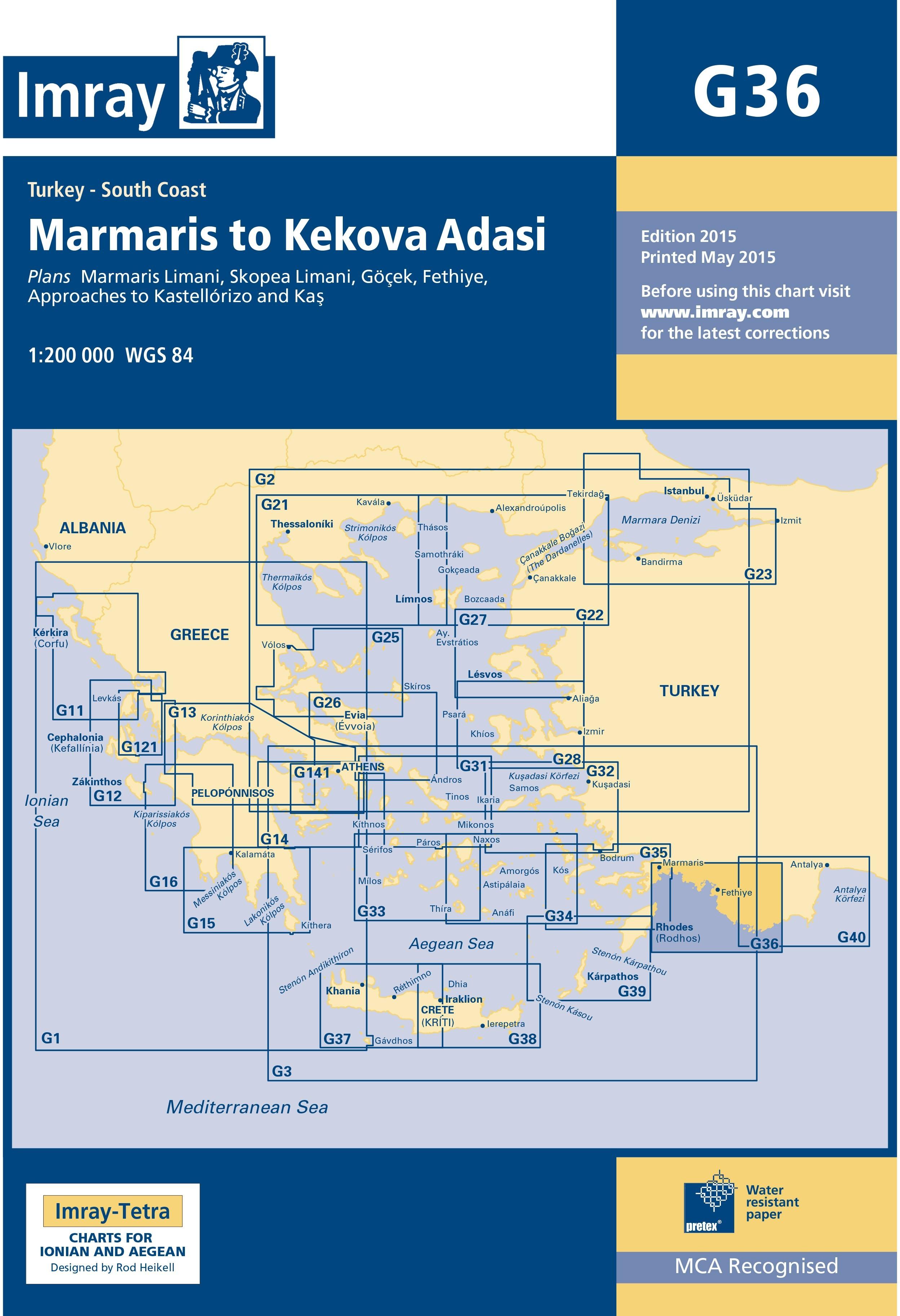 33.53 - Ναυτικός Χάρτης IMRAY ICG36-2 Μαρμαρίς έως Κέκοβα (Τουρκία)