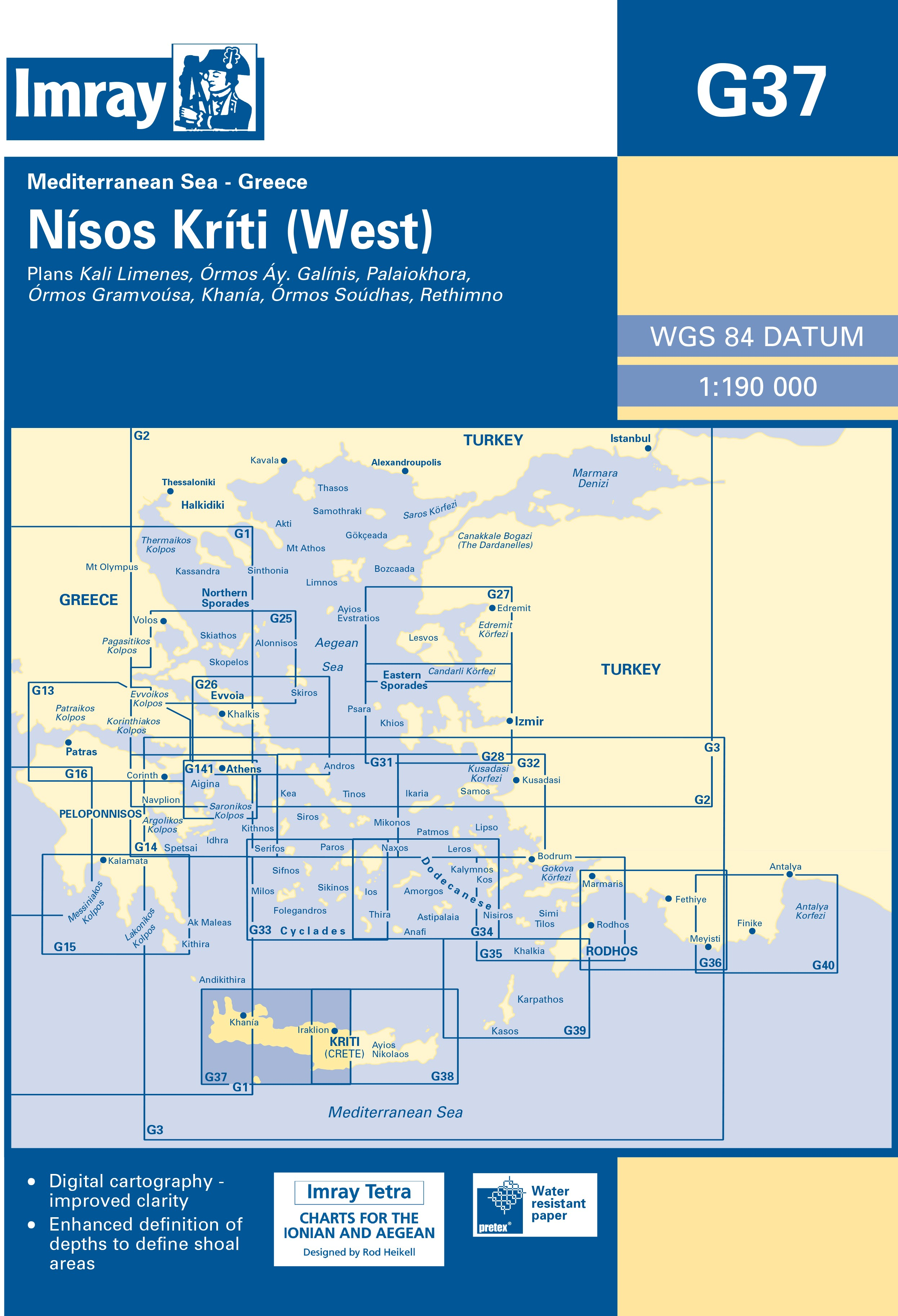 33.53 - Ναυτικός Χάρτης IMRAY ICG37 Δυτική Κρήτη