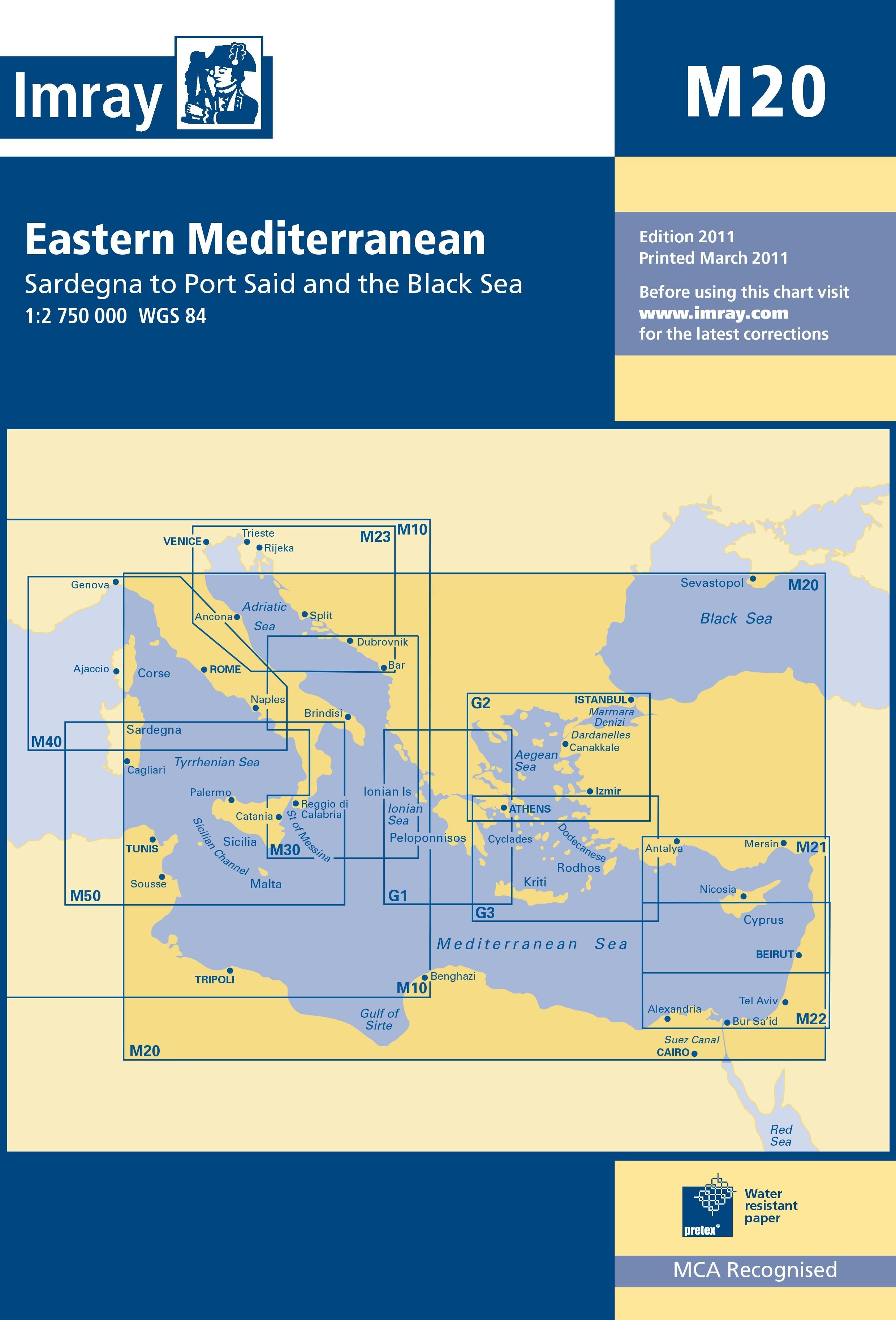 33.53 - Ναυτικός Χάρτης IMRAY ICM20-1 Ανατολική Μεσόγειος