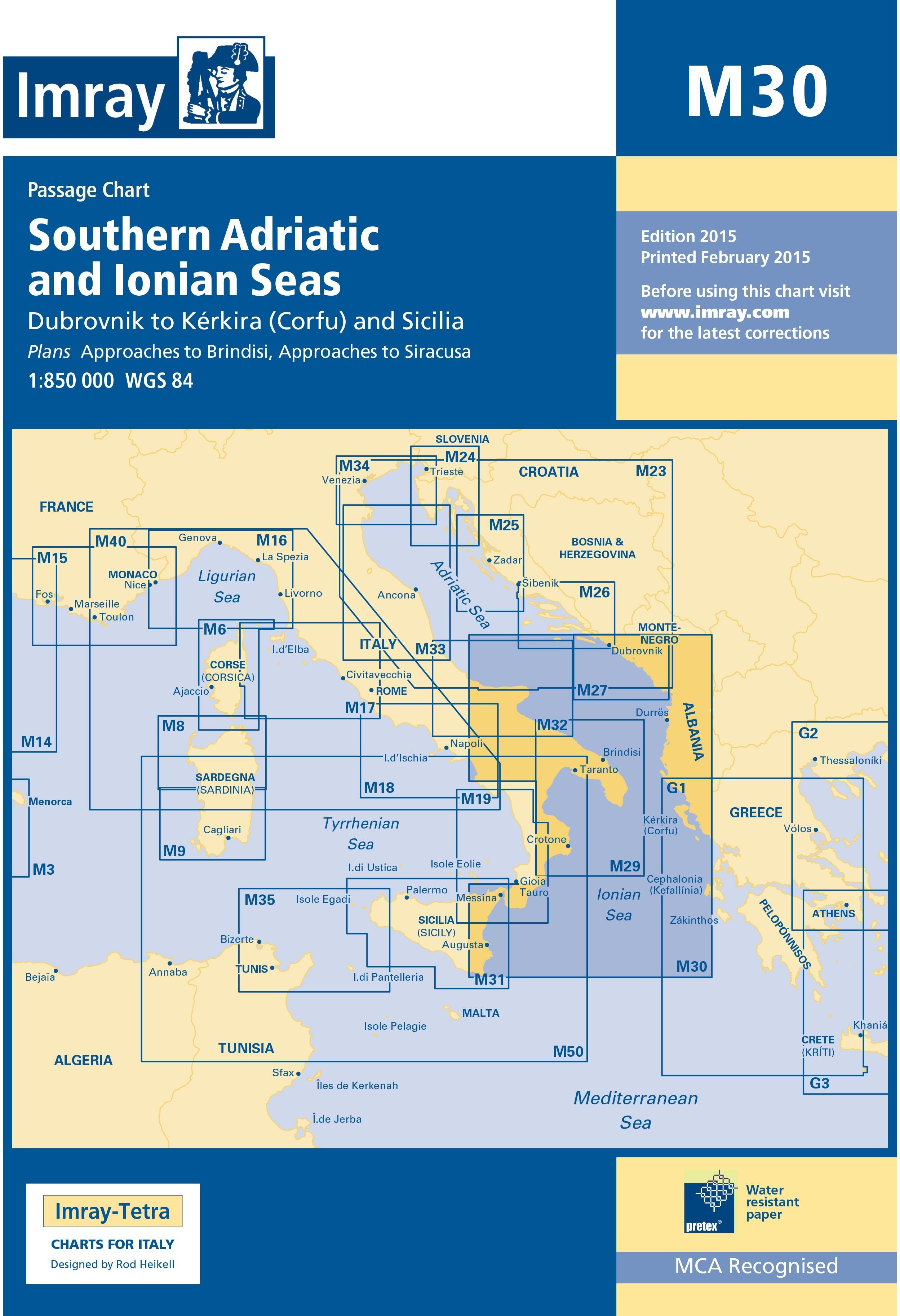 33.53 - Ναυτικός Χάρτης IMRAY ICM30-2 Νότια Αδριατική & Ιόνιο Πέλαγος