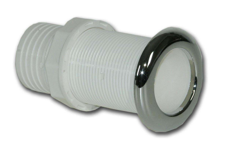 15.5 - Υδρορροή Πλαστική Για Σωλήνα Με Inox Στεφάνι L115 x Φ42mm Λευκή