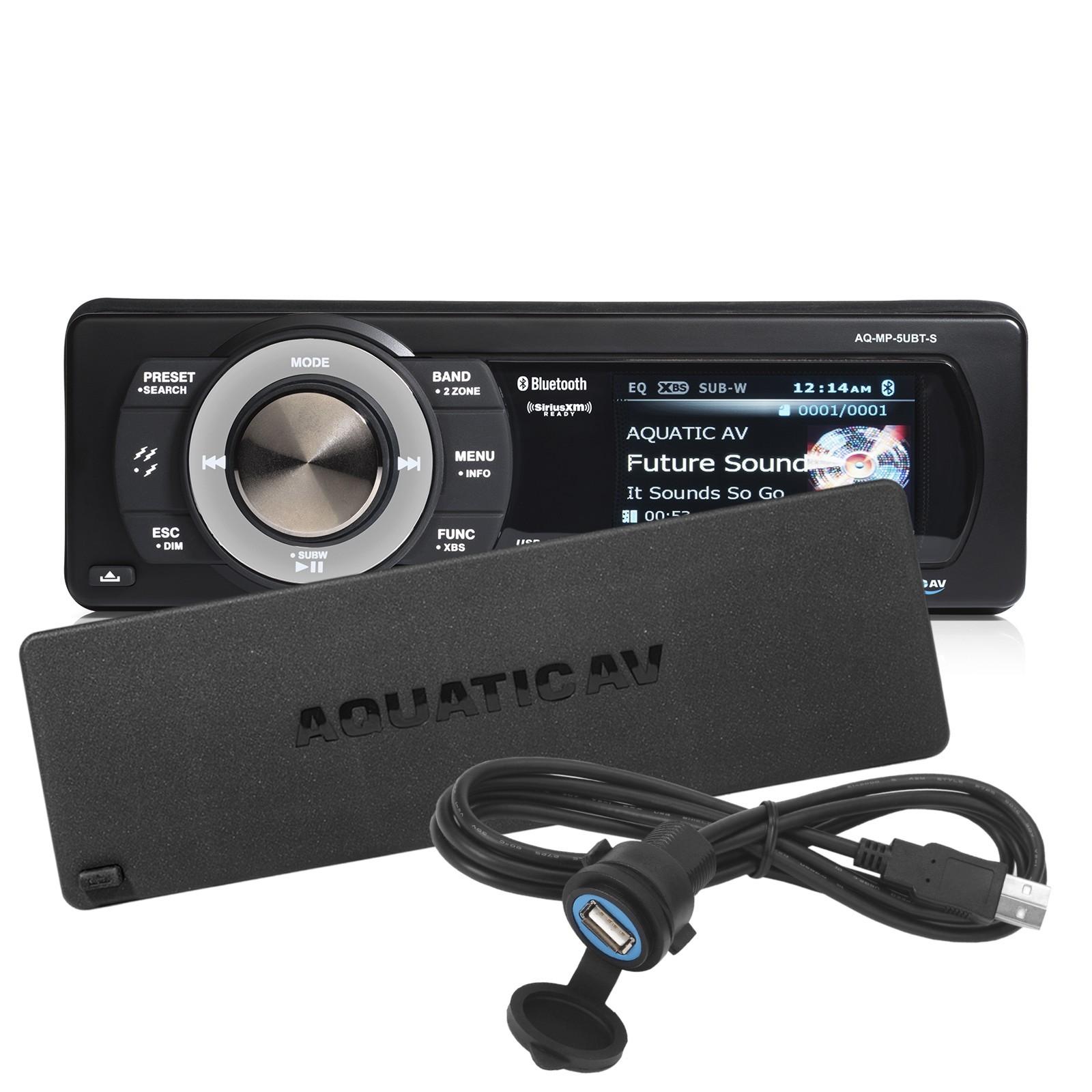 545.83 - Αδιάβροχο Marine Stereo - Bluetooth, Usb, Siriusxm