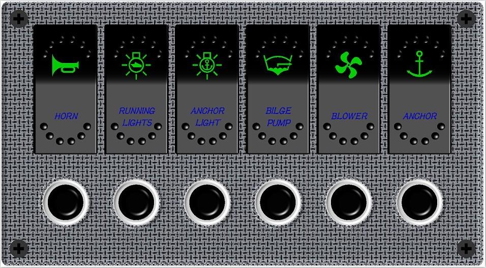6712 - Πίνακας Αδιάβροχος Τύπου Carbon - Electron