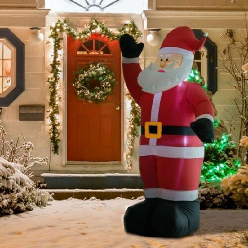 Φουσκωτός Άγιος Βασίλης με Φωτισμό LED