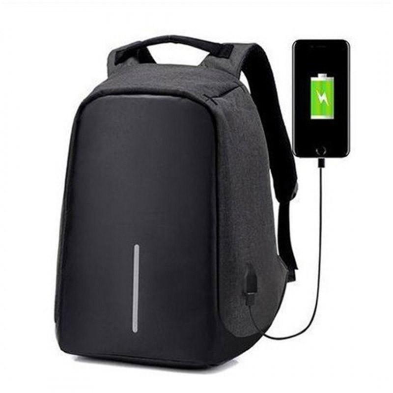 24.9 - Αντικλεπτικό Σακίδιο Πλάτης με Θύρα USB Χρώματος Μαύρο ΟΕΜ