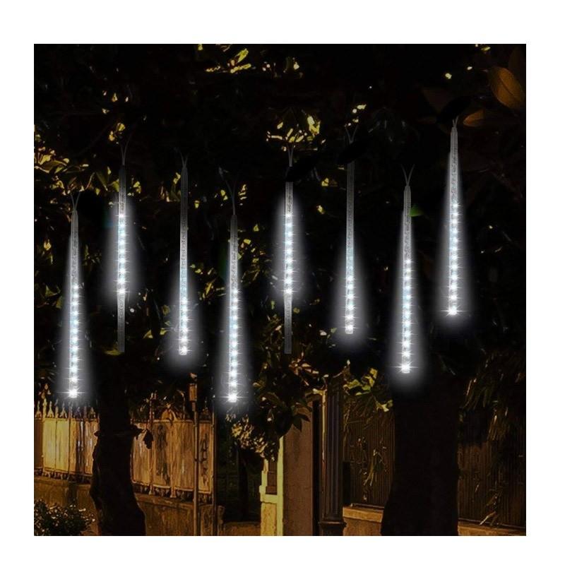Διακοσμητικός Φωτισμός LED με Εφέ Βροχή Χρώματος Λευκό Ψυχρό OEM