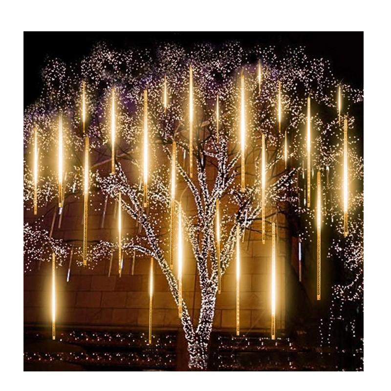 Διακοσμητικός Φωτισμός LED με Εφέ Βροχή Χρώματος Λευκό Ζεστό OEM