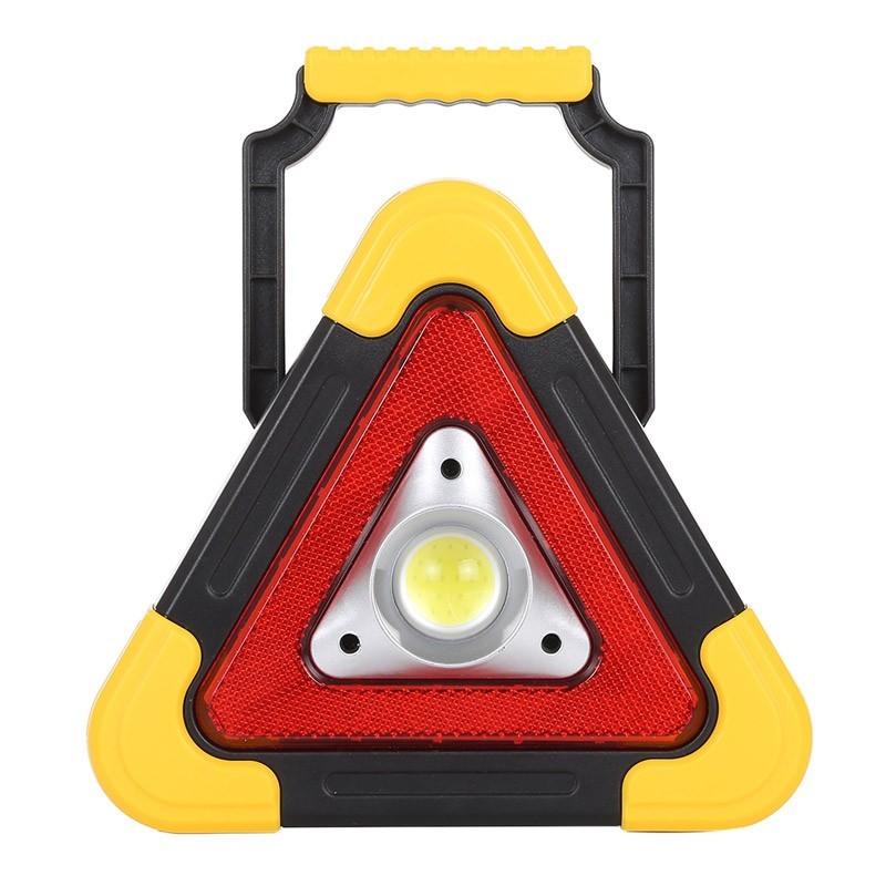 Επαναφορτιζόμενο Τρίγωνο Ασφαλείας & Φακός LED με Ηλιακό Πάνελ HB-6609