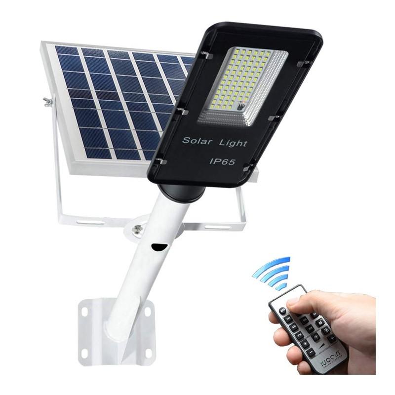 Ηλιακό Φωτιστικό Εξωτερικού Χώρου με Τηλεχειριστήριο και Αισθητήρα 100 W OEM