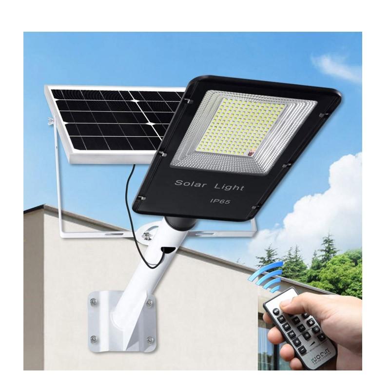 Ηλιακό Φωτιστικό Εξωτερικού Χώρου με Τηλεχειριστήριο και Αισθητήρα 150 W OEM