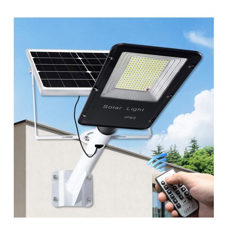 Ηλιακό Φωτιστικό Εξωτερικού Χώρου με Τηλεχειριστήριο και Αισθητήρα 200 W OEM