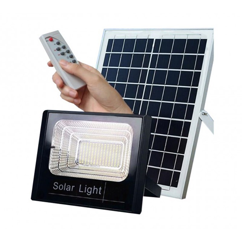 Ηλιακός Προβολέας Αδιάβροχος 10W με Τηλεκοντρόλ OEM FO-8810