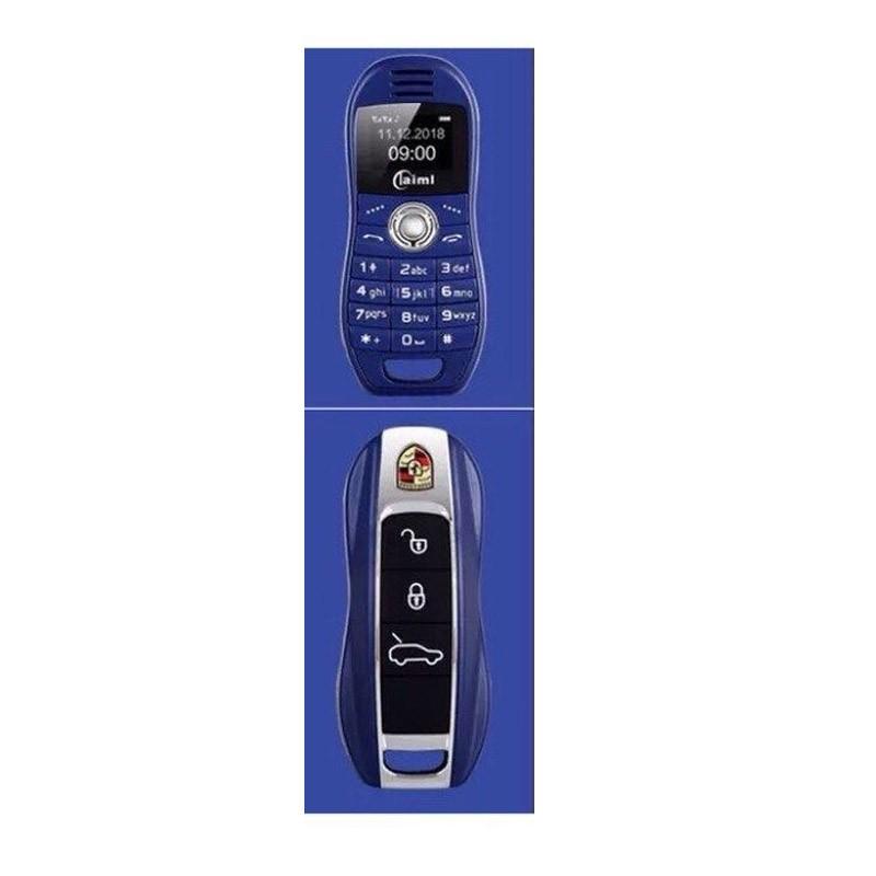Μίνι Κινητό Τηλέφωνο Χρώματος Μπλε σε Σχήμα Κλειδιού Αυτοκινήτου OEM