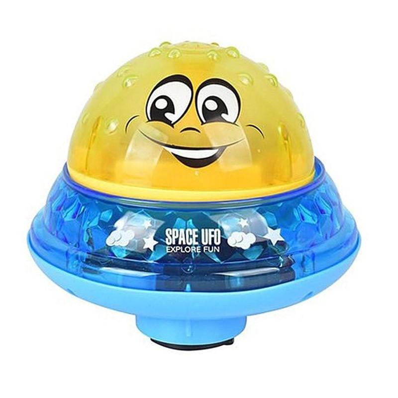 Παιδικό Παιχνίδι Συντριβάνι με Περιστρεφόμενη Βάση για το Μπάνιο Χρώματος Κίτρινο