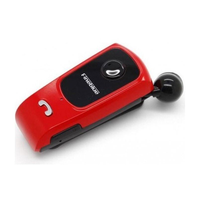 Ακουστικό Hands-Free με Σύνδεση Bluetooth Χρώματος Κόκκινο FineBlue